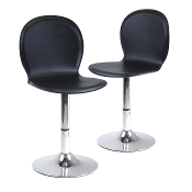 Spectrum Set of 2, Swivel, Shell Chair, Faux Leather, RTA