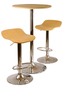 Kallie 3-pc Pub Table and Stools Set in Natural