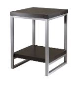 Jared End Table, Enamel Steel Tube