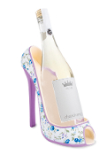 Floral Design High Heel Wine Bottle Holder