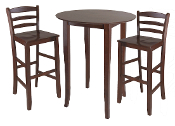 Fiona 3-Pc High Round Table with Ladder Back Stool