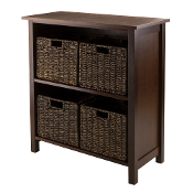 Granville 5pc Storage Shelf , 2-section with 4 Foldable Baskets
