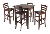 "Parkland 5pc High Table with 29"" Ladder Back Stools"