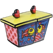 Romero Britto Deeply in Love Fish Canister