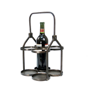 Four Bottle Metal Wine Holder