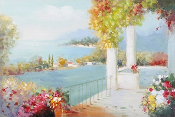 Balcony on the Water Canvas Oil Painting