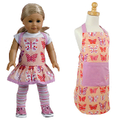 Matching Child and Doll Butterfly Apron