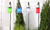 Hanging Solar Lighted Lantern Garden Stake