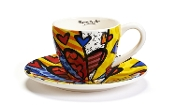 Romero Britto Teacup and Saucer Set, A New Day Design