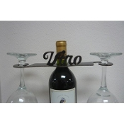 Iron Borracho Wine Rack (Back) Finish: Meteor