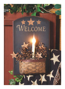 Candlelight Welcome Lighted Canvas