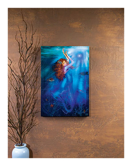 Lighted Moon Mermaid Canvas