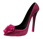 Pink Sequin Rose High Heel Wine Bottle Holder