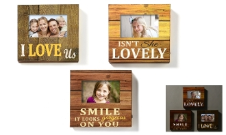 LED Lighted 4x6 Inch Motif Picture Frames, Set of Three