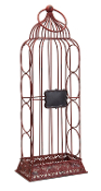 Melrose Birdcage Wine Rack with Chalkboard