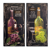 Melrose Wine Quotes Canvas, 2 Assorted Design Choices