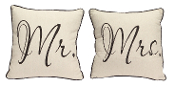 Mr. And Mrs. Pillow Set of 2