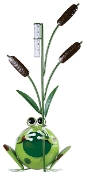 Sunset Vista Designs Frog and Cattails Rain Gauge