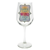 Santa Barbara Design Wine Glass, Love the Wine You're With