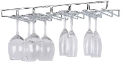 Organize It All Large Chrome Stemware Holder