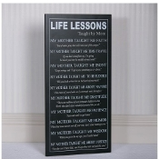 Adams&Co Lessons By Mom Wall Sign