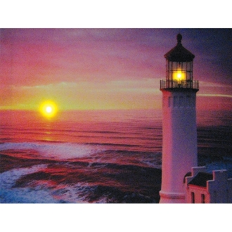 Westland Giftware Lighted Canvas Art, Lighthouse