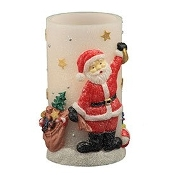 Pacific Accents Santa Themed Flameless LED Candle