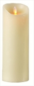 9 in. Flameless Pilar Candle in Ivory Smooth -Set of 2