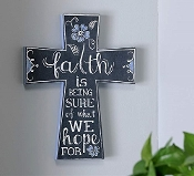 Inspirational Chalkboard Style Wall Cross Christian Home Décor