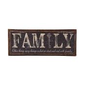 Black Burlap FAMILY Decorative Wall Sign
