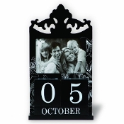 Perpetual Calender Block Photo Frame - Black