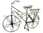 Weathered Rustic Bicycle Sculpture