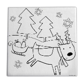 Paint & Create Canvas Kit - Reindeer Fun