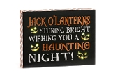 Giftcraft LED Lighted Novelty Wall Sign, Jack O'Lanterns