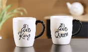 Note To Self Ceramic Matching Mug Set, King and Queen