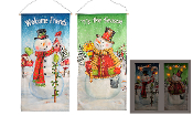 Giftcraft Decorative Snowman Hanging Wall Plaque, 2 Designs