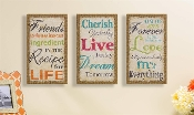 Giftcraft Sentimental Wall Signs, Choice of Three Designs