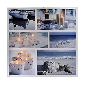 Gift Craft Nautical Wall Print with White LED Lights