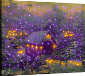 Manual Woodworkers & Weavers Winter Evening Memories Lighted Art