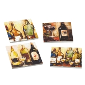 Set of 4 Wine Themed Drink Coasters