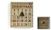 Giftcraft LED Lighted Words in Lights Advent Calendar Wall Decor