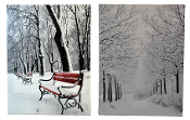 Snowy Park, Christmas Artwork, Choice of Two Designs