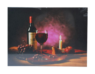 LED Lighted Country Candle Scene Canvas Wall Print