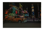 LED Lighted Times Square Scene Canvas Wall Print