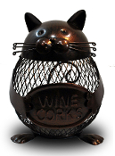 Metal Cat Wine Cork Holder
