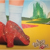 The Wizard Of Oz, Journey to The Land of Oz glitter wall art.
