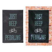 Just Keep Pedaling Artisan Glow in the Dark Light Up Canvas