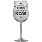 I Want to Do The Right Thing JKC Studio Wine Glass