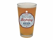 The Common Birthday Barstool Philosopher Pint Glass