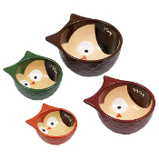 Design Imports Owls Measuring Cups, Set of 4